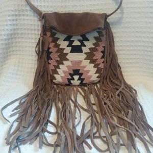 Cleobella Urban Outfitters Suede & Beaded Bag